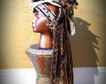 Viking Mohawk Tribal Feather Headdress