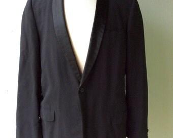 Vintage Black TUXEDO Narrow Collar Jacket