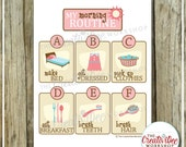 Morning Routine Chart | Girl Theme | Routine Chart | Pink Chart | Printable Chore Chart | Children's Routine Chart | Instant Download