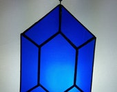 Stained Glass Rupee - Rupee Suncatcher Legend of Zelda Stained Glass Red Rupee Geeky Stained Glass Nerdy Gift Video Game Suncatcher