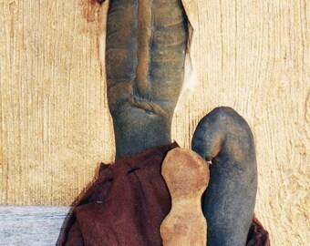Black Primitive Doll with Poppet