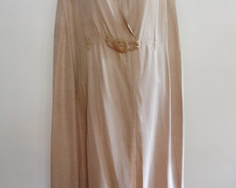 Edwardian Motoring Beige Cotton Duster Cape with Hood