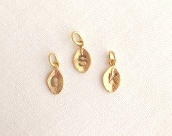 Leaf Charms. Initial Leaf Charm.Leaf Pendant.Personalized. Initials.Add a Charm. Add On. Tiny Leaf Charm.Leaf Charm Pendant.Gold Leaf. Gift