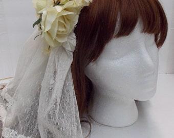 Ivory Veil Hair Accessory