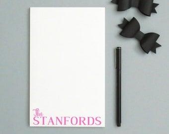 Personalized notepad set, custom notepad set, new home housewarming gift, Family Stationery Notepad, personalized housewarming gift, NP003