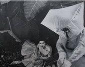 Surreal Art, Black and White Art, Strange Wall Art, Retro Art, Ooak Collage, One of a Kind Art