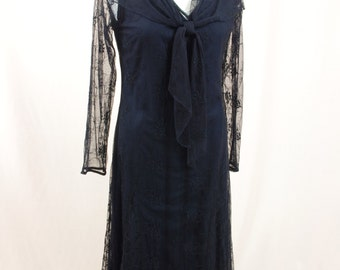 Black Boho Dress * April Cornell Dress * Black Lace Dress * Black Prairie Dress * Witch Costume * Black Maxi Dress * Hippie Dress * NWT