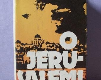 Vintage O Jerusalem book by Collins and Lapierre, 1972, photographs, Israel book, Jewish book, Arabs British UK Jewish wedding gift Judaica