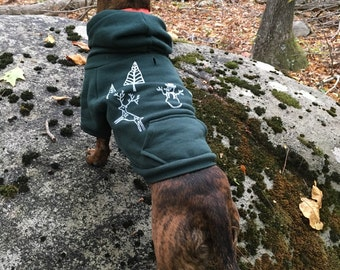 Dog Hoodie, Xmas Hoodie, Dog Sweater