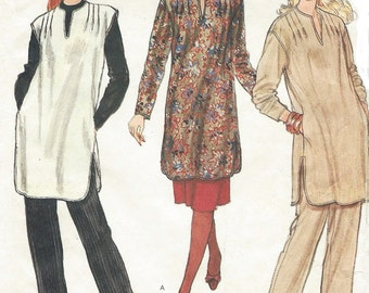 90s Womens Pullover Tunic, Skirt & Pants Vogue Sewing Pattern 8192 Size 14 Bust 36 UnCut Vintage Vogue Sewing Patterns