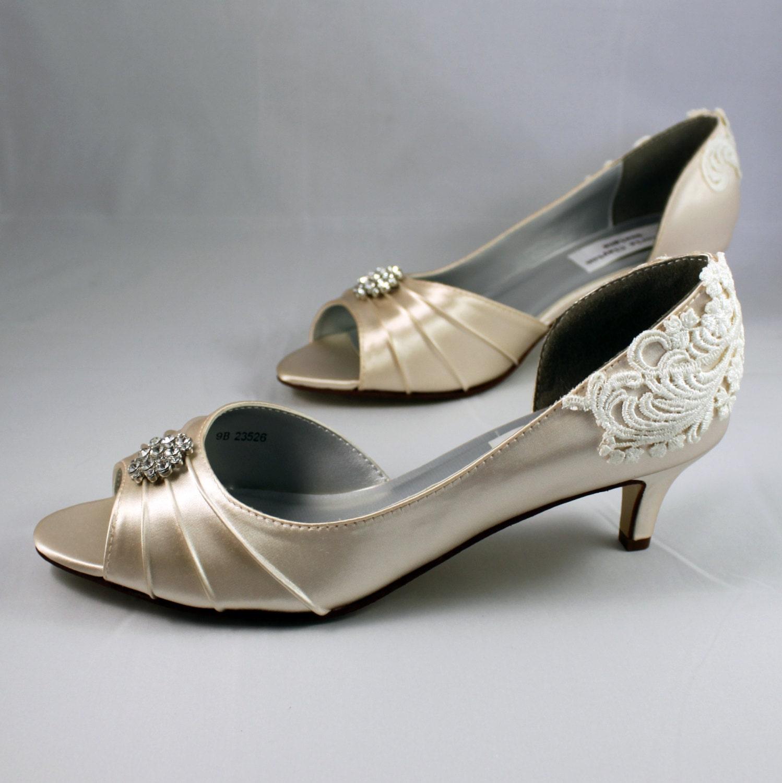 Champagne Wedding Shoes Wedding Shoe Low Heel Size 85