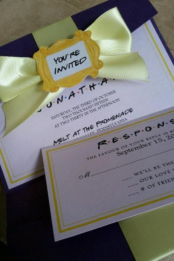 Friends Theme Wedding Party Invitation