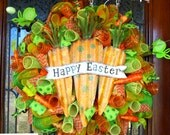 Happy Easter Carrots Wreath