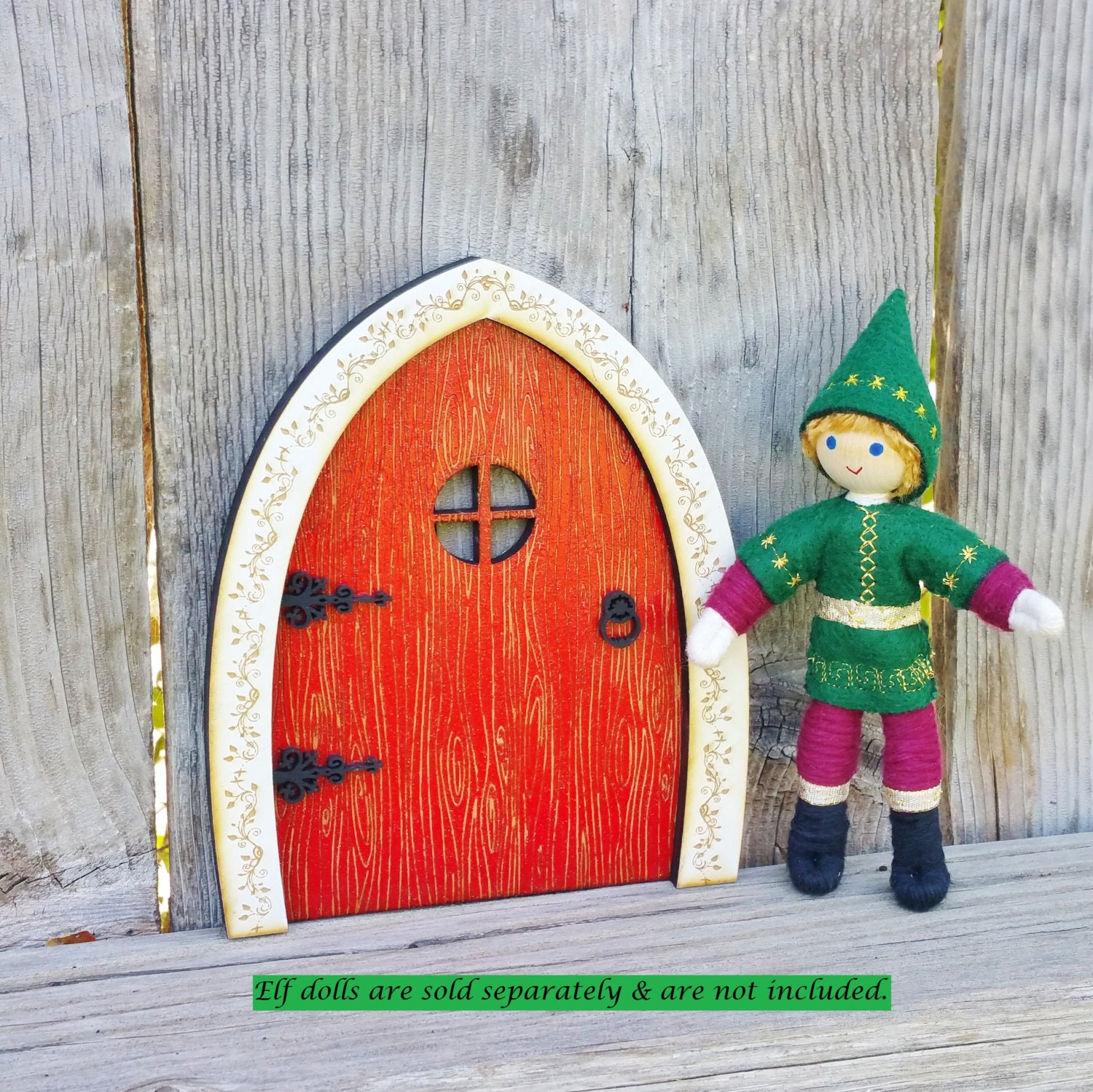 Elf door kindness elves christmas decor kindness elf for Elf door decoration