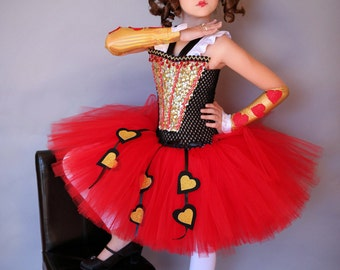 Red Queen costume and tutu dress from Alice in Wonderland