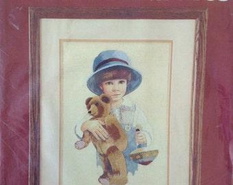 Crewel Embroidery Stitchery Kit Jimmy Needle Treasures Jan Hagara Kit Boy Teddy Bear