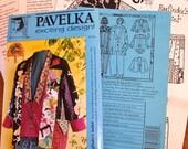 Ragpicker Jacket, Boho Applique Quartet Coat Womens Misses Vintage Pavelka Sewing Pattern 0862 Size S-XXL 8-22 Bust 30-46 Uncut Factory Fold