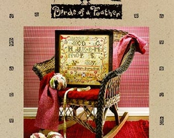 Sally Spencer Sampler : Birds of a Feather  counted cross stitch pattern embroidery the cottage needle thecottageneedle