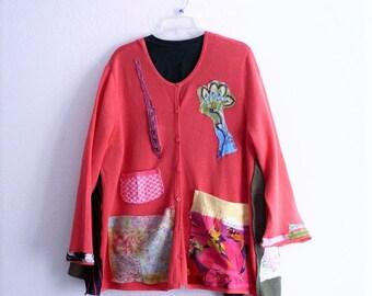 Embellished Cardigan. Ethical Eco Fashion Bohemian Duster