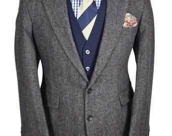 40S Show-stopper Herringbone Tweed Gentry Blazer