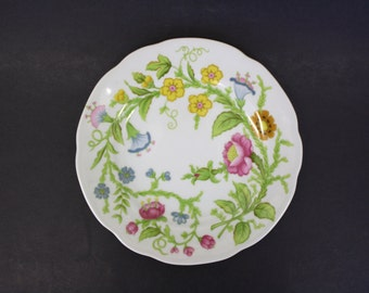 Vintage Set of Four Monticello Dessert Plates with Flowers (E2958)