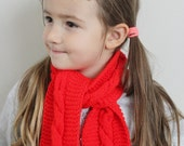 Red scarf - Girls Scarf - Knitted Scarf