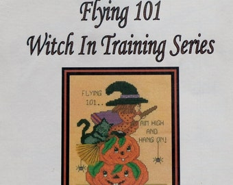 VeeandCo Witch In Training Series FLYING 101  Counted Cross Stitch Chart