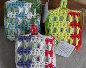 Crochet Soap Saver with/without handmade Soap (choose 1)