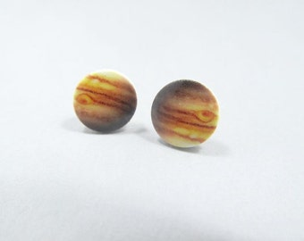 Planet Jupiter Stud Earrings