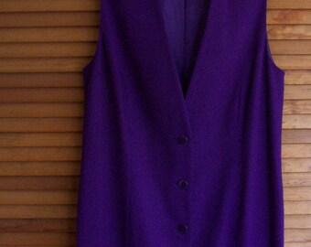 Vintage Vest Dress Size Womens 12 by Lands End