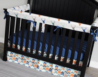 Elephant Nursery Crib Bedding Set Baby Boy Navy Blue Crib