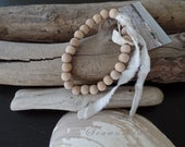 DRIFTWOOD PEACE BEADS French Nordic Coastal Seawashed Living Beach Bohemian Zen Prayer Meditation Quiet Living Style