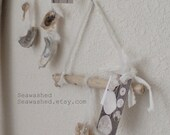 SEA CHIMES Driftwood Wall Hanging With Oyster SHELLS Seawashed Living Nordic Coastal Seaside Beach Bohemian Style