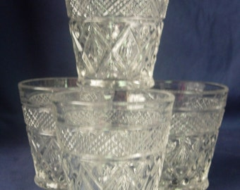 Four (4) Imperial Glass CAPE COD Old Fashioned / On the Rocks Glasses