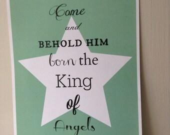 Come and Behold Him Christmas Print