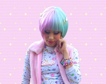CHOOSE ONE SHOUJO Girl Pastel Goth Acrylic Necklace for Cute Magical Girl Kawaii Fashion