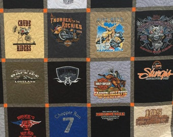 T Shirt Quilts, T-Shirt quilts, King size Quilts,  30 Shirt TShirt Quilt (DEPOSIT), Queen T-shirt Quilt