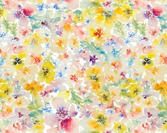 Straight Crib Skirt Watercolor Flowers - Floral Crib Bedding - Baby Bedding - Crib Skirt - Bed Skirt - Floral Crib Skirt - Girl Crib Skirt