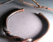 Twisted Copper Cuff Bracelet forged