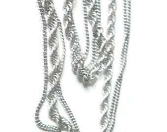 Vintage Monet Multistrand Silver Chains Necklace 1960s