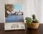 2016 desk calendar Prague, Prague photogprahy, Prague calendar, loose leaf calendar, gift under 25
