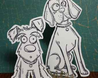 6 Crazy Dogs Cutouts Tim Holtz Rubber Stamps by Stampers Anonymous
