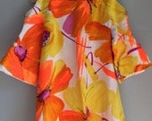 Hawaiian Polynesian muumuu caftan dress size large