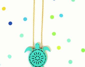 Sea Turtle Necklace,Nautical Necklace,Sea Turtle Jewelry,Sea Turtle Pendent,SeaLife Necklace,Sea Life Jewelry,Beach Necklace,Mermaid Jewelry