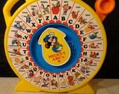 Vintage 1989 Mattel's See n Say Mickey ABC's
