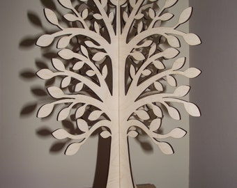 3D Slot -Together Wooden Wishing Tree