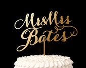 Custom Cake Topper - Mr and Mrs Last Name- Soirée Collection