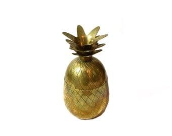 Medium Brass Pineapple Box Gold Pineapple Box Pineapple Bar Brass Pineapple Brass Medium