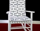 Rocking Chair Cushion Cover - Ash Grey Embrace