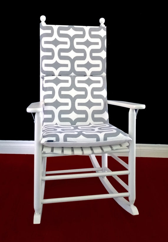 Bold Pattern Rocking Chair Cover